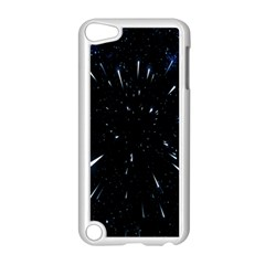 Space Warp Speed Hyperspace Through Starfield Nebula Space Star Line Light Hole Apple Ipod Touch 5 Case (white)