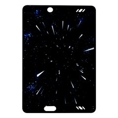 Space Warp Speed Hyperspace Through Starfield Nebula Space Star Line Light Hole Amazon Kindle Fire Hd (2013) Hardshell Case