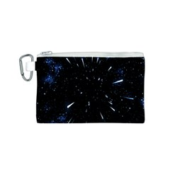 Space Warp Speed Hyperspace Through Starfield Nebula Space Star Line Light Hole Canvas Cosmetic Bag (s)