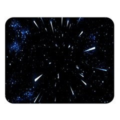 Space Warp Speed Hyperspace Through Starfield Nebula Space Star Line Light Hole Double Sided Flano Blanket (large)