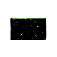 Space Warp Speed Hyperspace Through Starfield Nebula Space Star Line Light Hole Cosmetic Bag (xs)