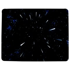Space Warp Speed Hyperspace Through Starfield Nebula Space Star Line Light Hole Jigsaw Puzzle Photo Stand (rectangular)