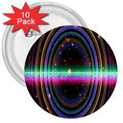 Spectrum Space Line Rainbow Hole 3  Buttons (10 Pack)