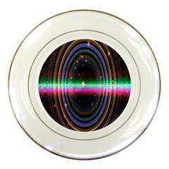 Spectrum Space Line Rainbow Hole Porcelain Plates