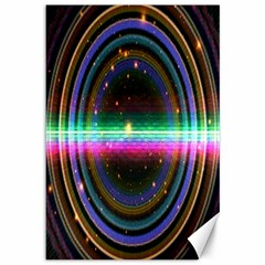Spectrum Space Line Rainbow Hole Canvas 12  X 18