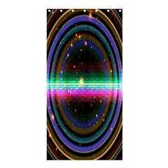 Spectrum Space Line Rainbow Hole Shower Curtain 36  X 72  (stall)