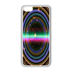 Spectrum Space Line Rainbow Hole Apple Iphone 5c Seamless Case (white)