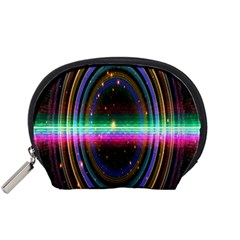 Spectrum Space Line Rainbow Hole Accessory Pouches (small)