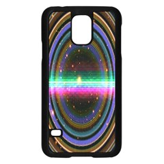 Spectrum Space Line Rainbow Hole Samsung Galaxy S5 Case (black)