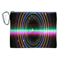 Spectrum Space Line Rainbow Hole Canvas Cosmetic Bag (xxl)