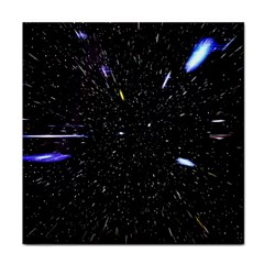 Space Warp Speed Hyperspace Through Starfield Nebula Space Star Hole Galaxy Tile Coasters
