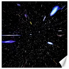 Space Warp Speed Hyperspace Through Starfield Nebula Space Star Hole Galaxy Canvas 20  X 20