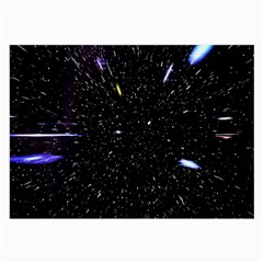 Space Warp Speed Hyperspace Through Starfield Nebula Space Star Hole Galaxy Large Glasses Cloth