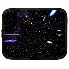 Space Warp Speed Hyperspace Through Starfield Nebula Space Star Hole Galaxy Netbook Case (xxl)