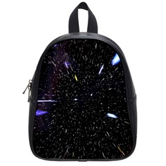 Space Warp Speed Hyperspace Through Starfield Nebula Space Star Hole Galaxy School Bag (small)