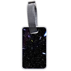 Space Warp Speed Hyperspace Through Starfield Nebula Space Star Hole Galaxy Luggage Tags (one Side)