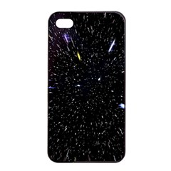 Space Warp Speed Hyperspace Through Starfield Nebula Space Star Hole Galaxy Apple Iphone 4/4s Seamless Case (black)