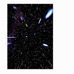 Space Warp Speed Hyperspace Through Starfield Nebula Space Star Hole Galaxy Large Garden Flag (two Sides)