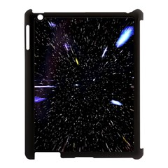 Space Warp Speed Hyperspace Through Starfield Nebula Space Star Hole Galaxy Apple Ipad 3/4 Case (black)