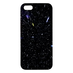 Space Warp Speed Hyperspace Through Starfield Nebula Space Star Hole Galaxy Apple Iphone 5 Premium Hardshell Case