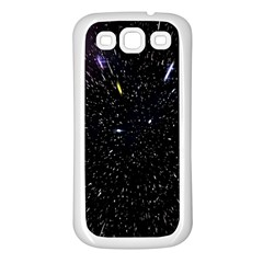 Space Warp Speed Hyperspace Through Starfield Nebula Space Star Hole Galaxy Samsung Galaxy S3 Back Case (white)