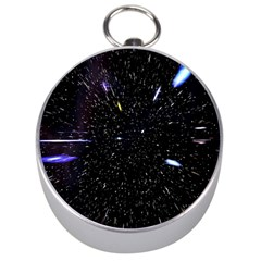 Space Warp Speed Hyperspace Through Starfield Nebula Space Star Hole Galaxy Silver Compasses
