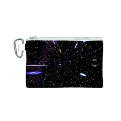Space Warp Speed Hyperspace Through Starfield Nebula Space Star Hole Galaxy Canvas Cosmetic Bag (s)