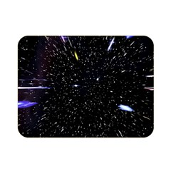Space Warp Speed Hyperspace Through Starfield Nebula Space Star Hole Galaxy Double Sided Flano Blanket (mini)