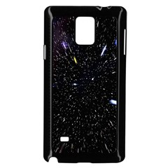 Space Warp Speed Hyperspace Through Starfield Nebula Space Star Hole Galaxy Samsung Galaxy Note 4 Case (black)