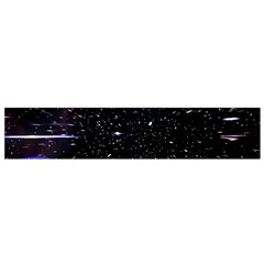 Space Warp Speed Hyperspace Through Starfield Nebula Space Star Hole Galaxy Flano Scarf (small)