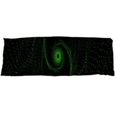 Space Green Hypnotizing Tunnel Animation Hole Polka Green Body Pillow Case (dakimakura)