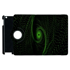 Space Green Hypnotizing Tunnel Animation Hole Polka Green Apple Ipad 2 Flip 360 Case