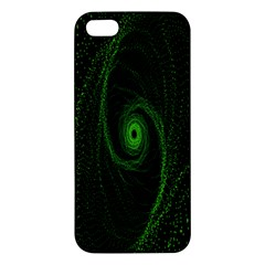 Space Green Hypnotizing Tunnel Animation Hole Polka Green Apple Iphone 5 Premium Hardshell Case