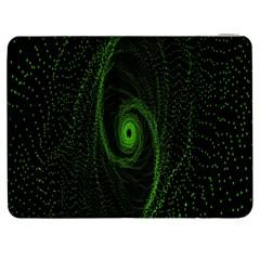 Space Green Hypnotizing Tunnel Animation Hole Polka Green Samsung Galaxy Tab 7  P1000 Flip Case