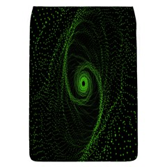 Space Green Hypnotizing Tunnel Animation Hole Polka Green Flap Covers (l)