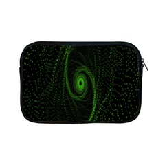 Space Green Hypnotizing Tunnel Animation Hole Polka Green Apple Ipad Mini Zipper Cases