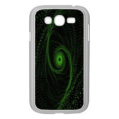 Space Green Hypnotizing Tunnel Animation Hole Polka Green Samsung Galaxy Grand Duos I9082 Case (white)