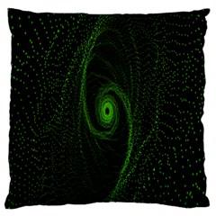Space Green Hypnotizing Tunnel Animation Hole Polka Green Standard Flano Cushion Case (one Side)