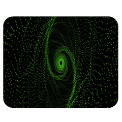 Space Green Hypnotizing Tunnel Animation Hole Polka Green Double Sided Flano Blanket (medium)
