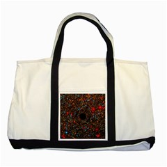 Space Star Light Black Hole Two Tone Tote Bag