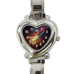 Sun Light Galaxy Heart Italian Charm Watch