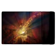 Sun Light Galaxy Apple Ipad 2 Flip Case