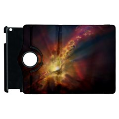 Sun Light Galaxy Apple Ipad 3/4 Flip 360 Case
