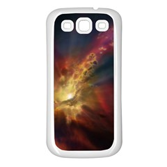 Sun Light Galaxy Samsung Galaxy S3 Back Case (white)