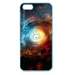 Supermassive Black Hole Galaxy Is Hidden Behind Worldwide Network Apple Seamless Iphone 5 Case (color)