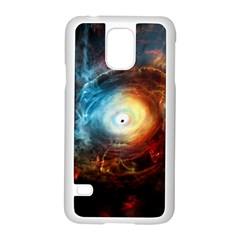 Supermassive Black Hole Galaxy Is Hidden Behind Worldwide Network Samsung Galaxy S5 Case (white)