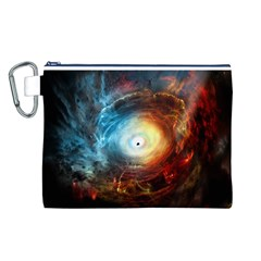Supermassive Black Hole Galaxy Is Hidden Behind Worldwide Network Canvas Cosmetic Bag (l)