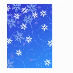 Winter Blue Snowflakes Rain Cool Large Garden Flag (two Sides)