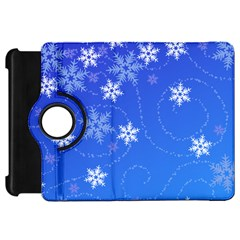 Winter Blue Snowflakes Rain Cool Kindle Fire Hd 7