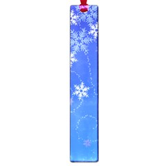 Winter Blue Snowflakes Rain Cool Large Book Marks